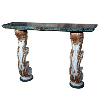 Marble Top Wall Mount Console by Maison Jansen For Sale