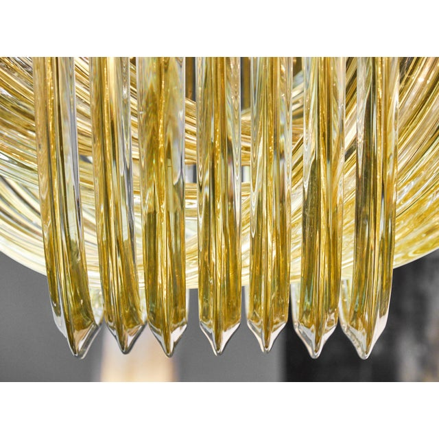 "2010s Customizable Murano Glass ""Curve"" Chandelier For Sale - Image 5 of 10"