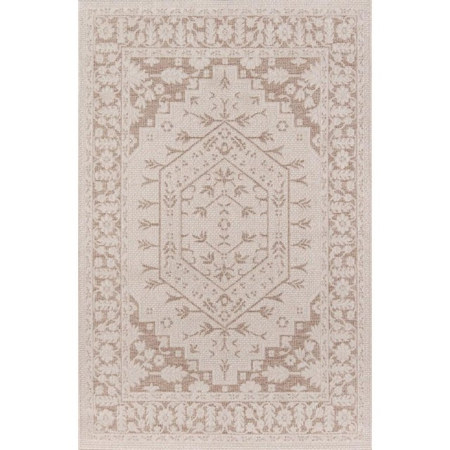 "Erin Gates Downeast Brunswick Beige Machine Made Polypropylene Area Rug 3'11"" X 5'7"" For Sale - Image 10 of 10"