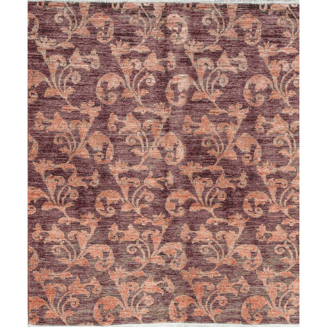 Contemporary Hand Woven Wool Rug - 6'4 X 7'6 For Sale