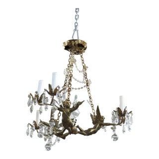 French Regency Style Putti Chandelier