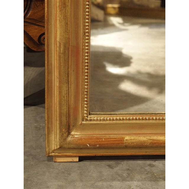 19th Century French Louis Philippe Giltwood Mirror For Sale - Image 4 of 11