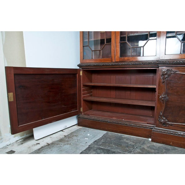 Huge George III Style Mahogany Breakfront Bookcase - Image 2 of 7
