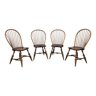 Dr Dimes Loop Back Windsor Dining Side Chairs - Set of 4 For Sale