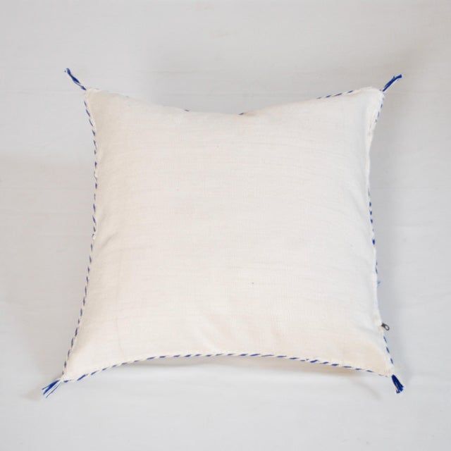 Islamic Cream Moroccan Berber Sabra Throw Pillow For Sale - Image 3 of 3