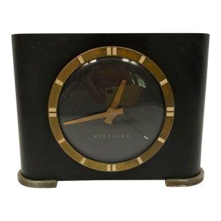 1930s Antique Art Deco Westclox Table Clock For Sale