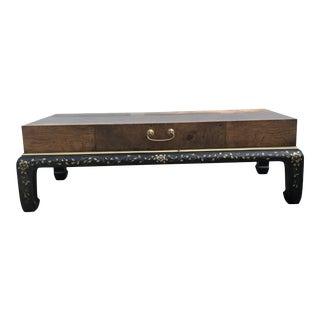 1970s Mid-Century Modern Hekman Burlwood Coffee Table For Sale
