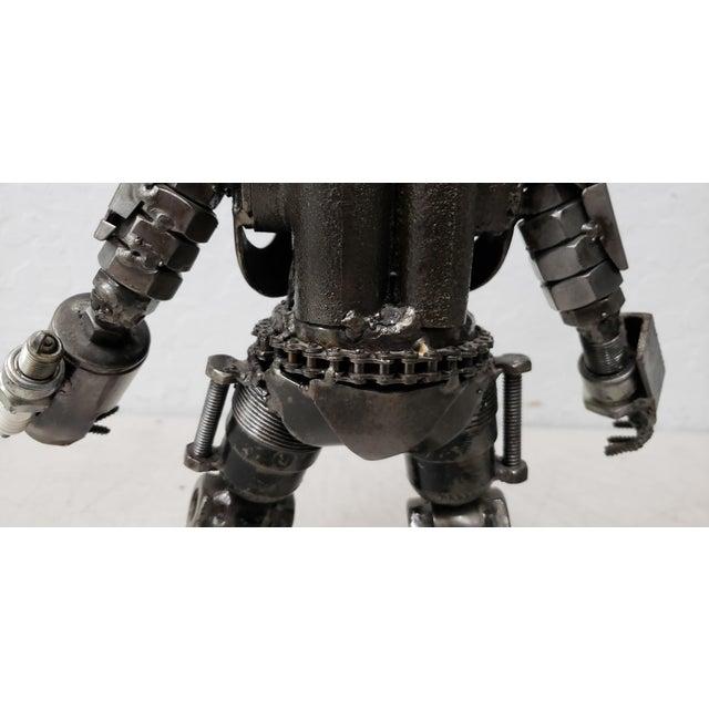 Metal Heavy Gauge Scrap Metal Robot Sculpture For Sale - Image 7 of 9
