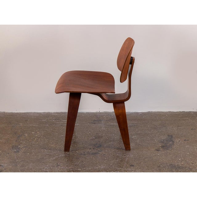 Herman Miller Early Eames Walnut Dcw Chairs for Herman Miller - a Pair For Sale - Image 4 of 12