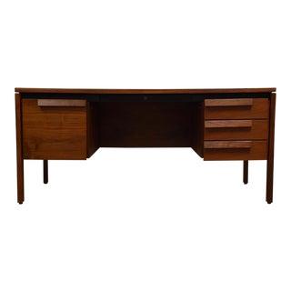 Jens Risom Walnut Executive Desk For Sale