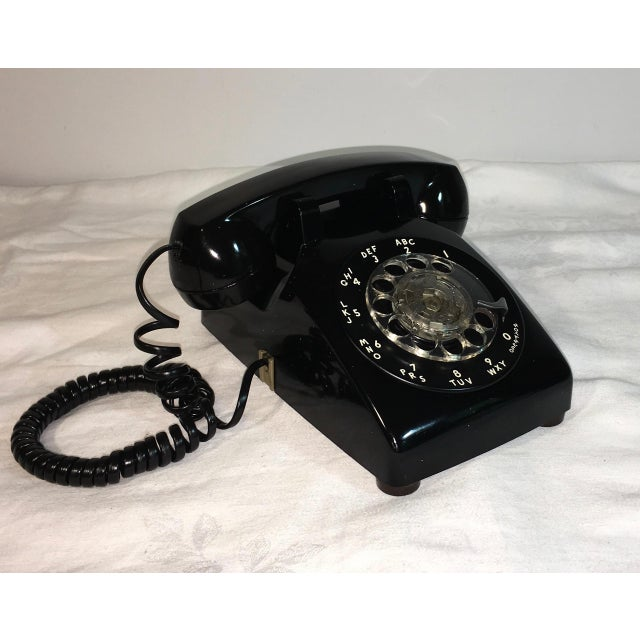 Vintage Black Rotary Telephone - Image 3 of 8