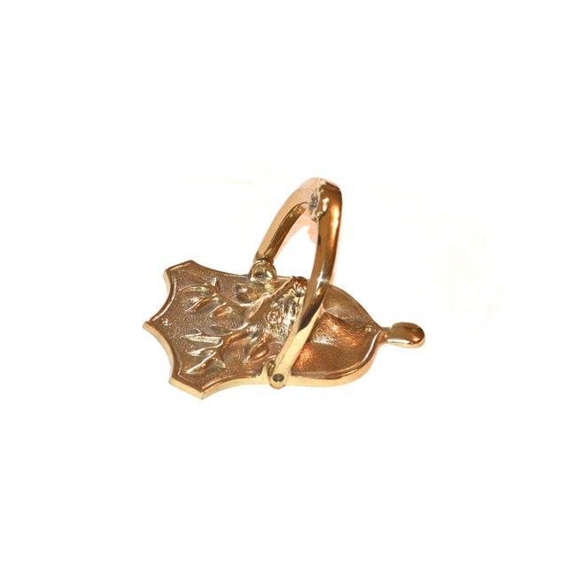 Stag Brass Door Knocker For Sale - Image 6 of 10