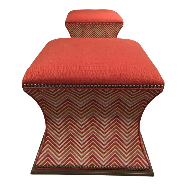 Wesley Hall Comcavo Ottomans - a Pair - Image 1 of 8