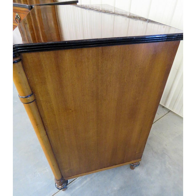 Gold Pair of Kittinger Georgian Style Rosewood Commodes For Sale - Image 8 of 11