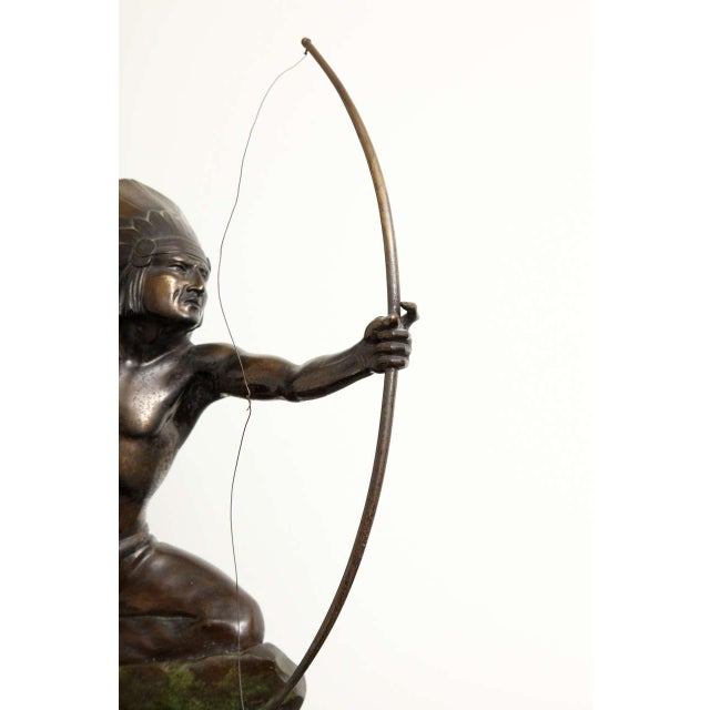 Early 20th Century French Art Deco Bronze Signed E. Guy For Sale - Image 5 of 10