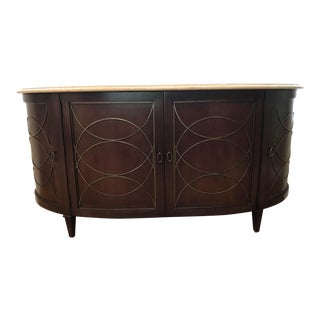 Duchamp Demilune Satillia Marble Top Sideboard