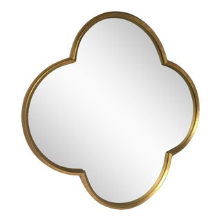 Quatrefoil Gold Mirror For Sale