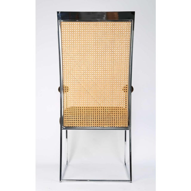 Six High Back Cane Dining Chairs by Milo Baughman for Thayer Coggin For Sale - Image 10 of 11