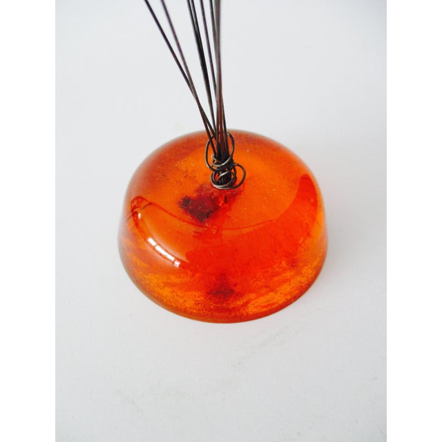 Orange Lucite Abstract Sculptural Kinetic Sculpture - Image 6 of 10