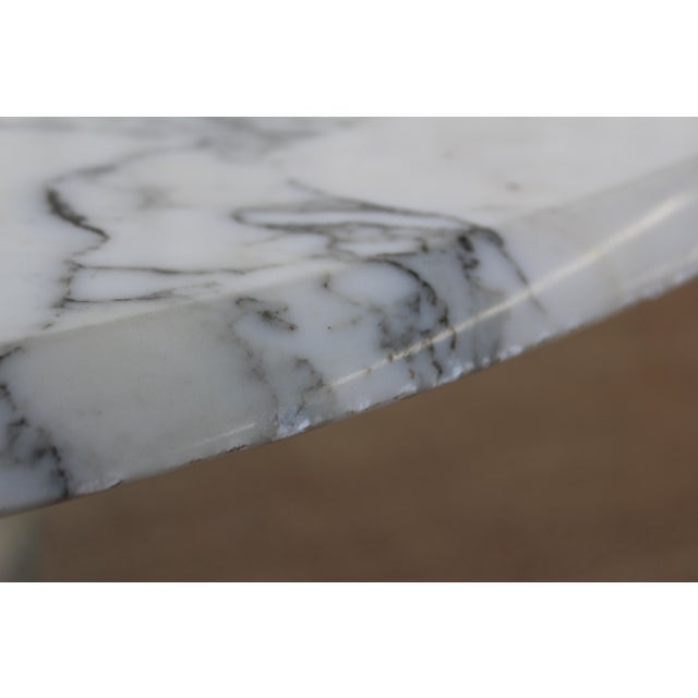 Vintage 1970s Post-Modern Italian Marble Dining Table For Sale - Image 11 of 12