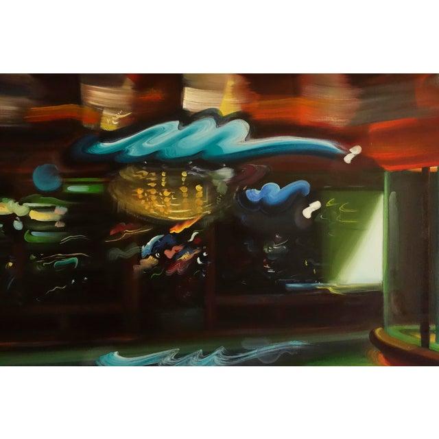 "Alexandra Pacula ""Nighthawks"" Painting - Image 2 of 7"