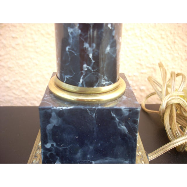 Faux Marble Table Lamp For Sale - Image 4 of 4