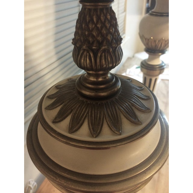 French Country Style Table Lamps - Pair - Image 5 of 10