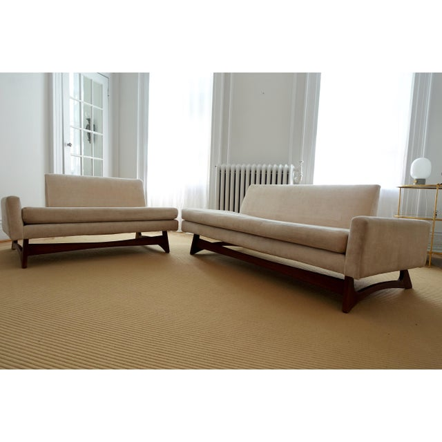 Custom Mid-Century Adrian Pearsall Two Piece Sofa - Image 3 of 4