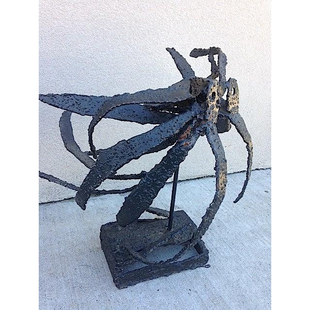 Brutalist Metal Brutalist Insect Sculpture For Sale - Image 3 of 6