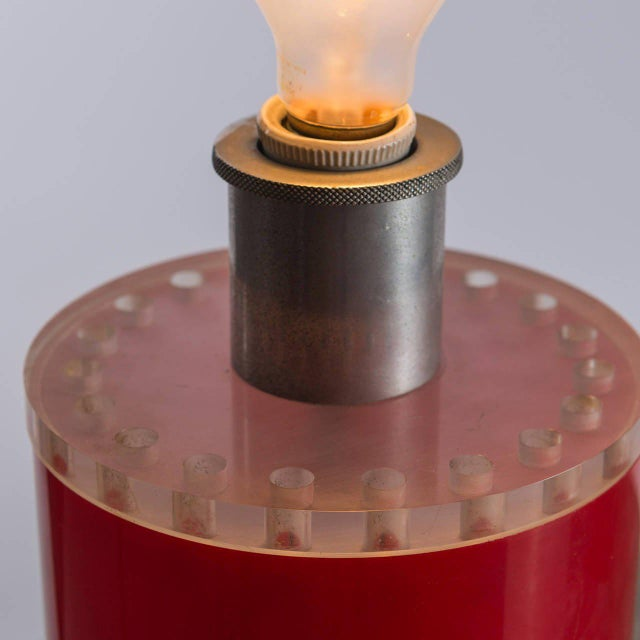 Red Rare Table Lamp by Ingrid Hsalmarson for New Lamp For Sale - Image 8 of 10