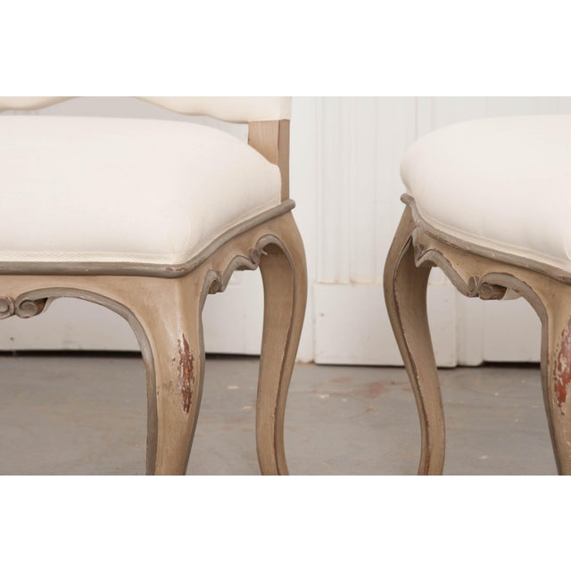 Paint French Louis XV Style Reproduction Dining / Side Chairs - Set of 4 For Sale - Image 7 of 13