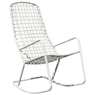 Mid-Century Modern Brown Jordan Kantan Outdoor Patio Rocker Rocking Chair, 1960s For Sale