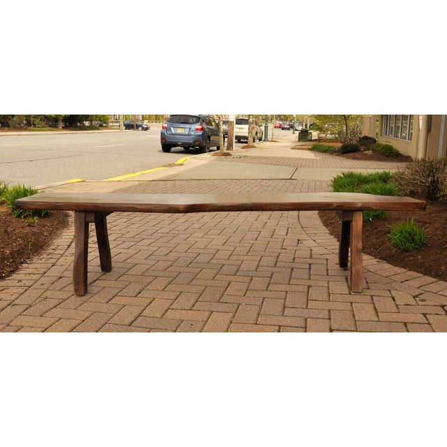 French Live-Slab Top Bench For Sale - Image 4 of 7