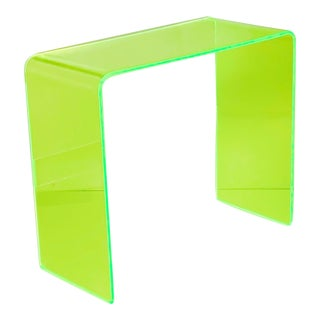 """Postmodern """"The Tall Order"""" Neon Green Console Table For Sale"""