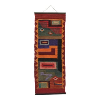 Mid-Century Woven Textile Wall Hanging
