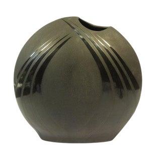 Vintage Art Deco Mid Century Black Vase