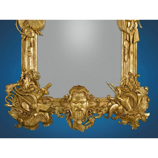 French 19th Century Gilded Mirror For Sale - Image 3 of 4
