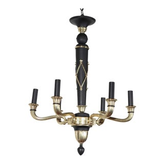 French Regency Revival Style Chandelier For Sale