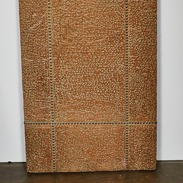 Mid-century copper and brass panel from France.