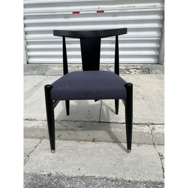 2000 - 2009 Midcentury Modern Style Klismos Chairs Set of Ten . For Sale - Image 5 of 13