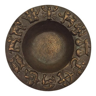 Chinese Bronze Zodiac Dish For Sale
