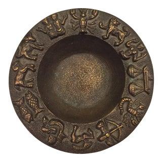 Chinese Bronze Zodiac Dish