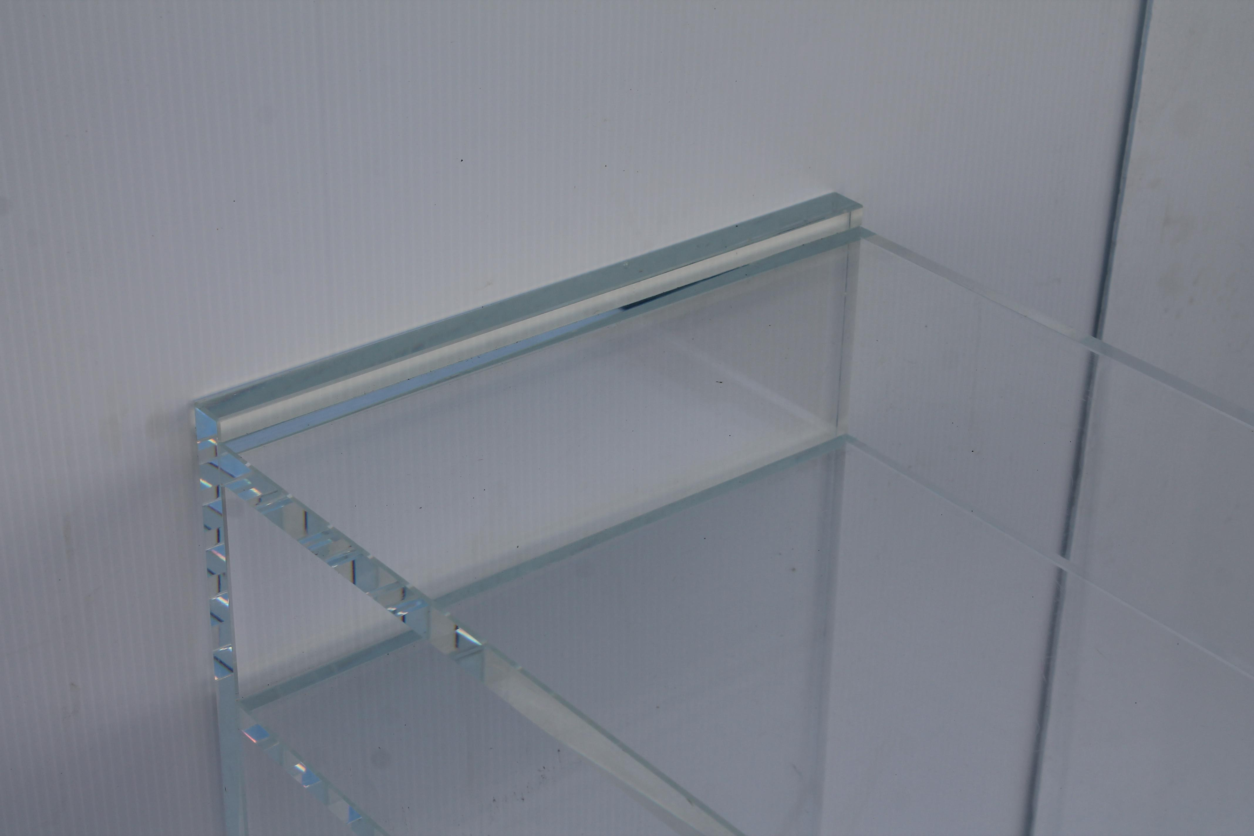 Mid Century Modern 2 Tier Lucite Console Table For Sale   Image 10 Of 11