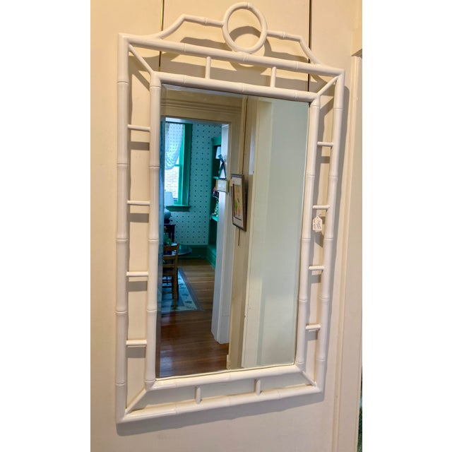 Bungalow 5 White Chippendale Bamboo Mirror For Sale - Image 4 of 4