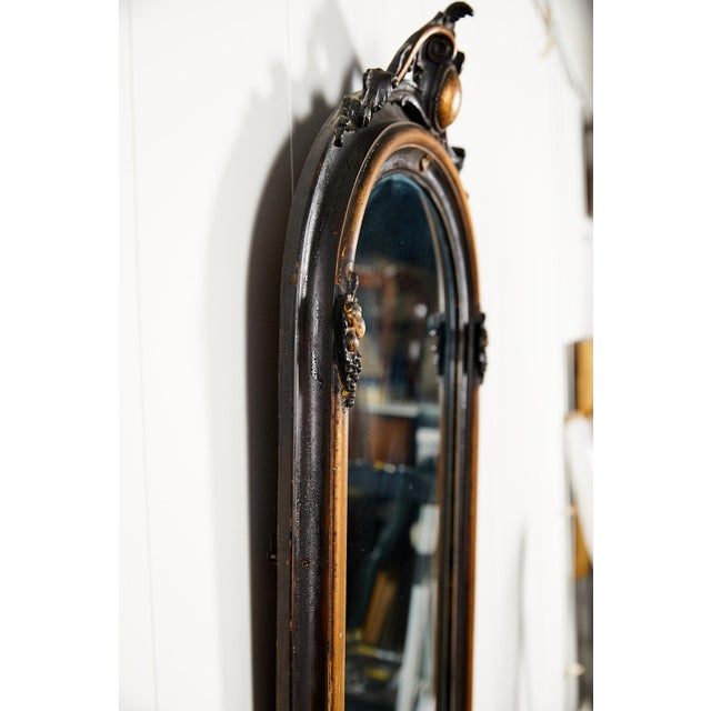 Black French Ebonized and Gilded Wall Mirror, Circa 1900 For Sale - Image 8 of 11