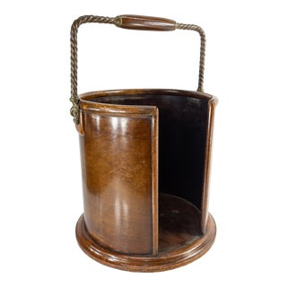 Early 20th Century Mahogany Wood Butler's Tray or Waste Basket For Sale