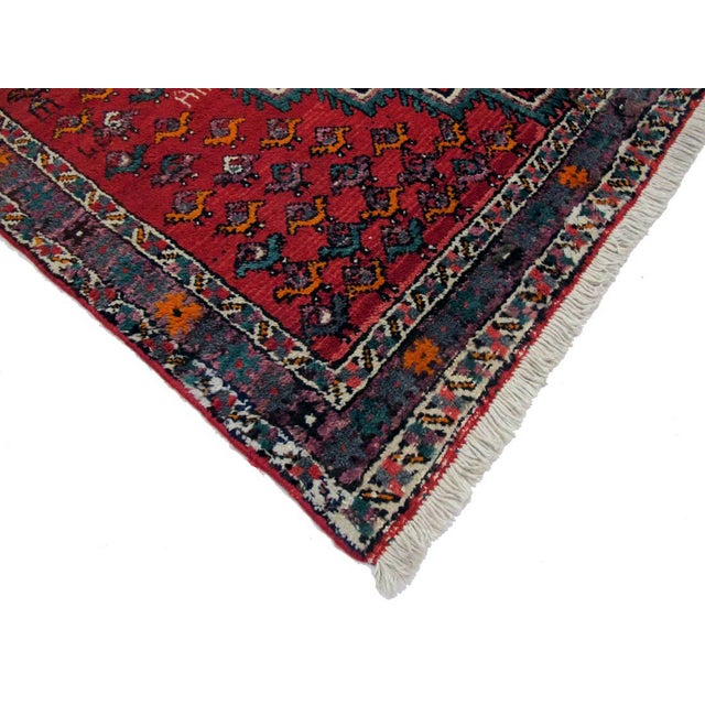 "Boho Chic Vintage Persian Shiraz Rug- 4'5""x6'0"" For Sale - Image 3 of 3"