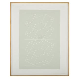 "Joseph Albers ""White Embossing on Gray"" For Sale"