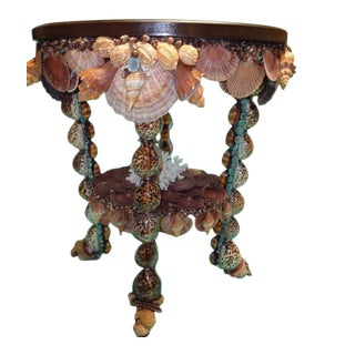 """""""Captiva Isle"""" Coquillage Shelled Oval Table For Sale"""