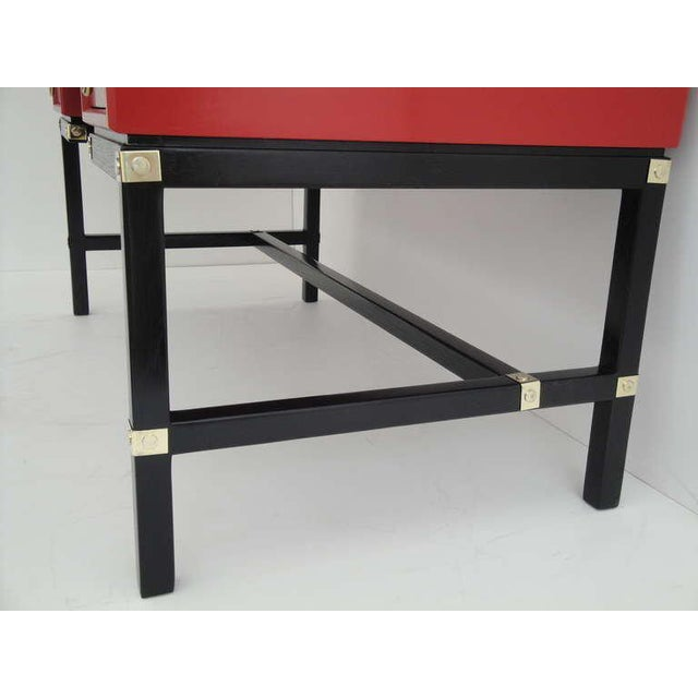 Hollywood Regency Red Campaign Style Desk For Image 10 Of